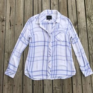 Rails Plaid Button Down Top